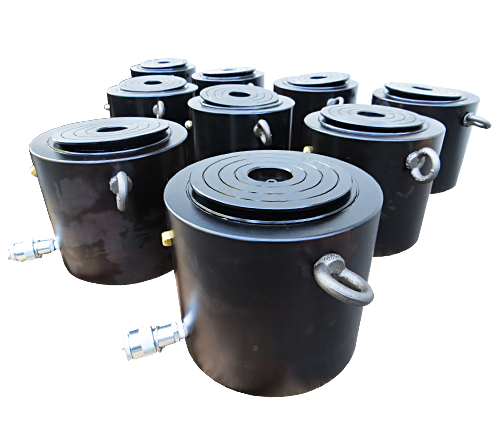 High tonnage cylinders, single acting, load return