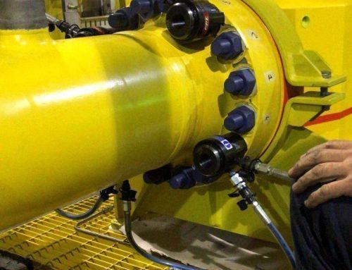 Tensionatori idraulici M36x4 speciali per il serraggio delle pipeline