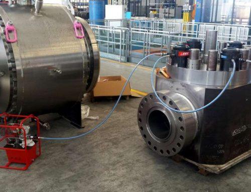 Tensionatori per serraggi idraulici sulle valvole a sfera di grandi dimensioni, ball valve.
