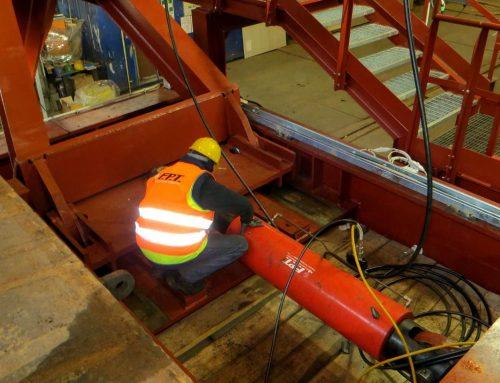 Cilindri idraulici a doppio effetto traenti da 140 tonnellate per il consolidamento di una galleria lunga 8.6 km