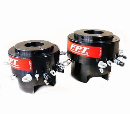 Hydraulic bolt tensioners with threaded insert
