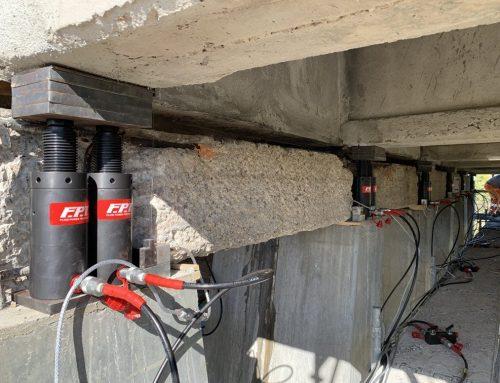 Bridge jacking and bridge bearing replacement