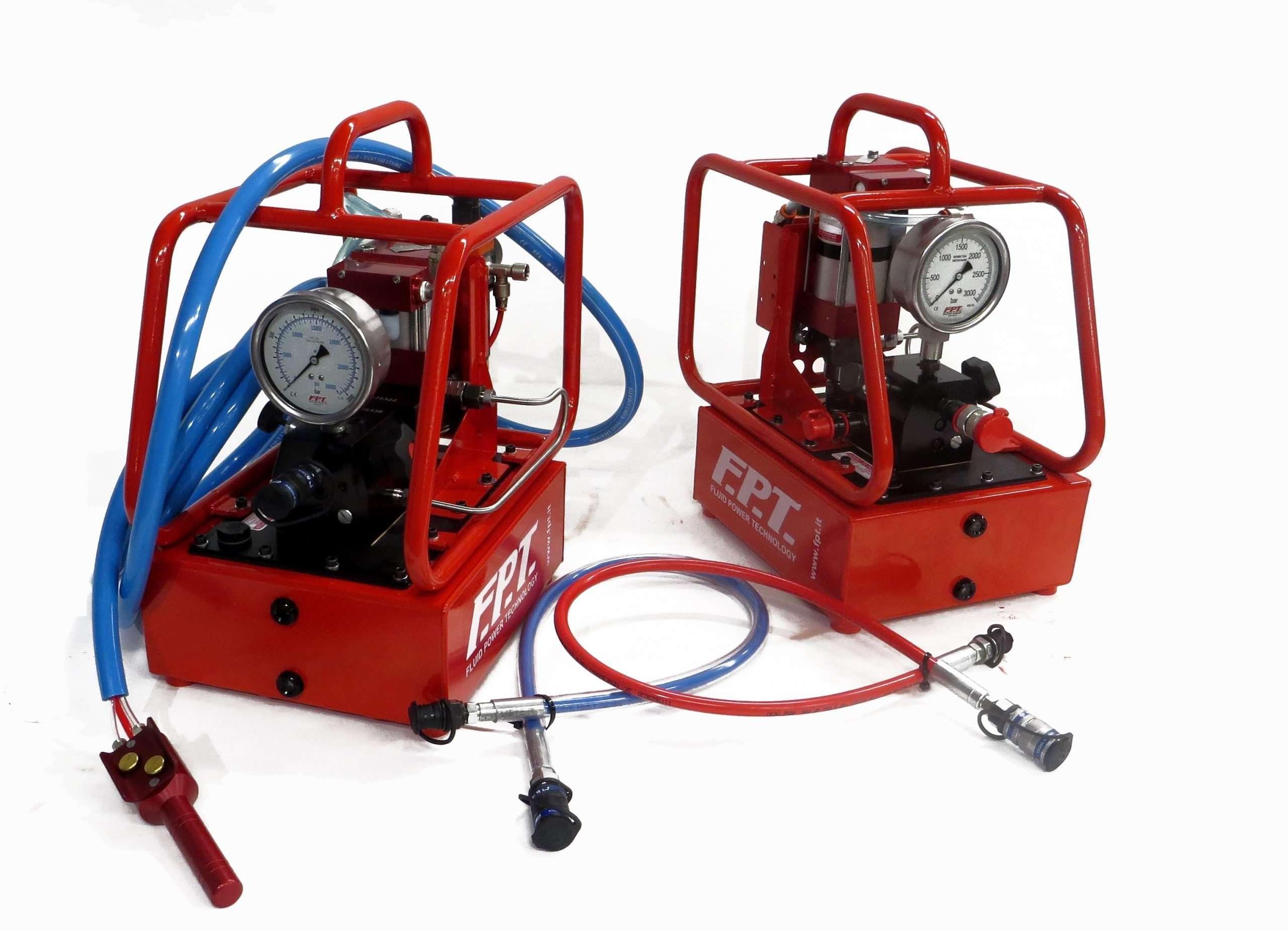 Air Hydraulic pumps 1500 – 2500 – 3000 – 4000 bar