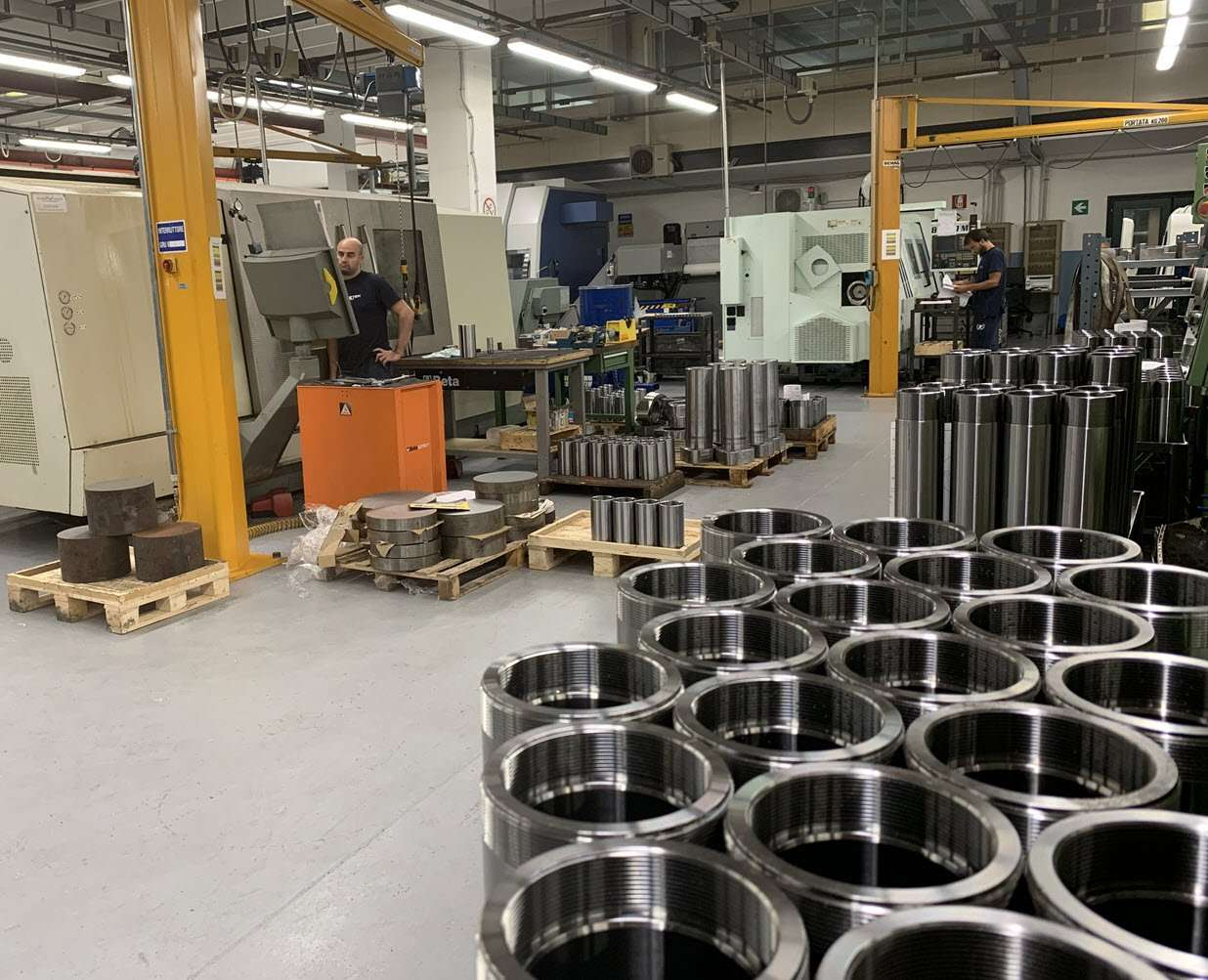 production of hydraulic cylinders