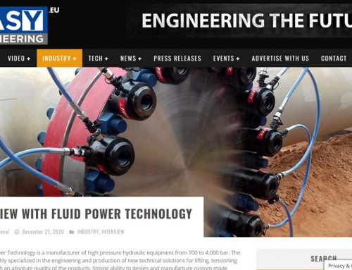 Interview with FPT Fluid Power Technology On line on Easy Engineering