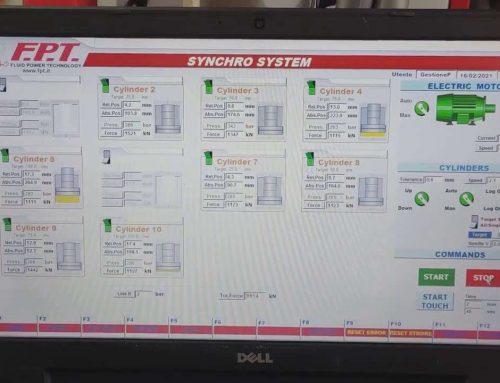 Sistema di sollevamento sincronizzato per sollevare e abbassare un carico automaticamente