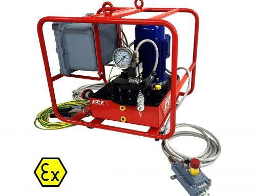 Centraline idrauliche certificate ATEX per lavorare in zone a rischio di esplosione. New!!